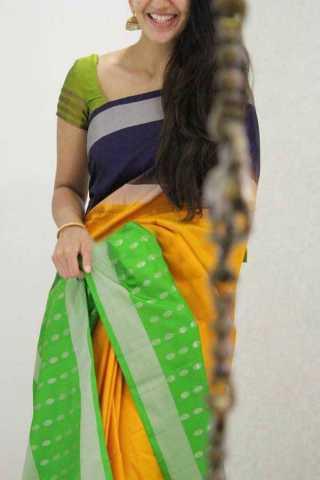 Multicolor Silk Saree For Women - CND1857