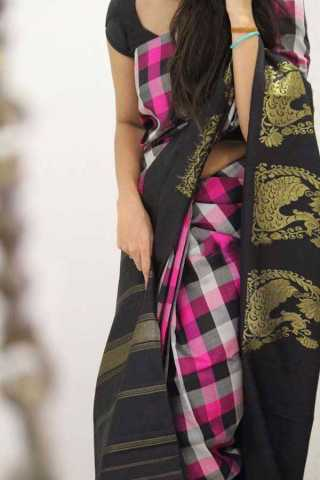 Multi Colored Silk Saree For Women - CND1884