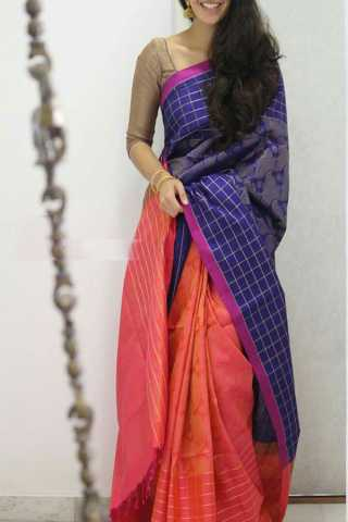 Multi Colored Silk Saree For Women - CND1894