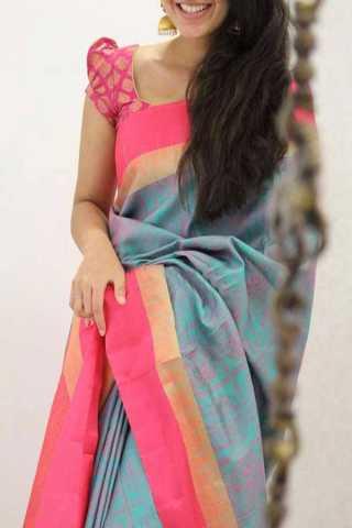 Multicolor Silk Saree For Women - CND1948