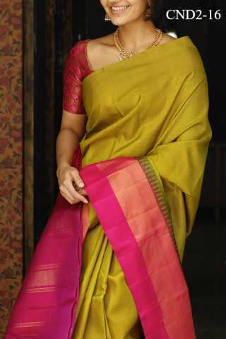 Mustard Yellow Colored Silk Fabric Saree For Women