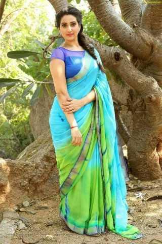 Impressive Green  Sky Blue color Soft Silk Designer Saree - CND2027