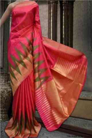 Awesome Pink Color Soft Silk Designer Wear Saree - cnd576