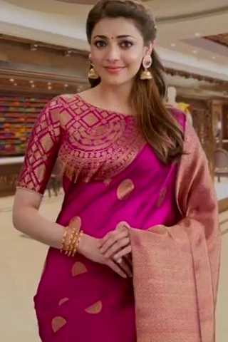 Classy Pink Colored Wedding Wear Soft Silk Saree