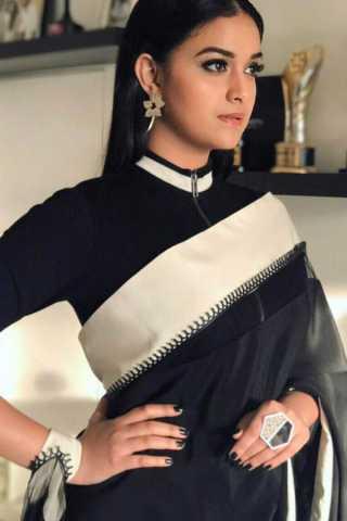 "Desiring Black Colored Wedding Wear Soft Silk Saree  30"""