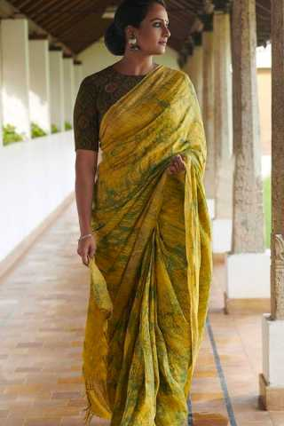 Surpassing Yellow Wedding Wear Soft Silk Saree With Blouse