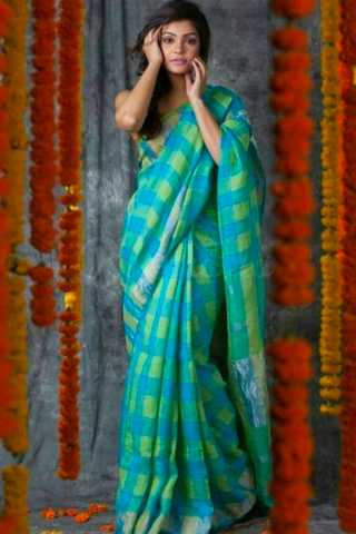 Lovely Blue Wedding Wear Soft Silk Saree With Blouse