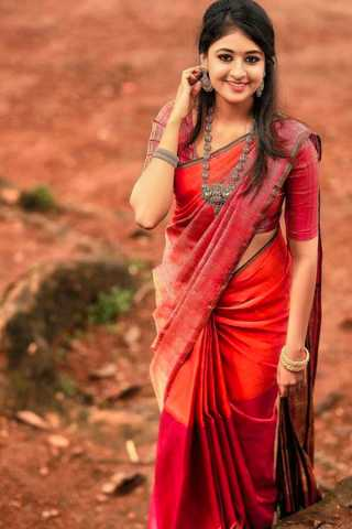 Exclusive Orange-Red Wedding Wear Soft Silk Saree With Blouse