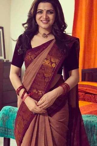 Maroon Border Kanchipuram Style Silk Saree - CS48