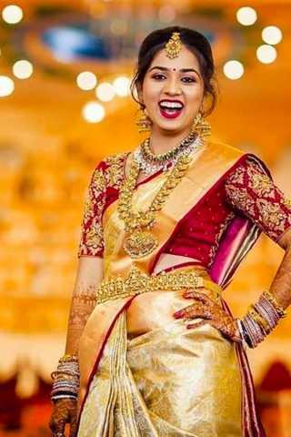 Yellow Color Red Border Chennai Silk Festive Saree  - CS67