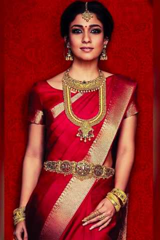 Red Color Chennai Silk Festive Saree  - CS69