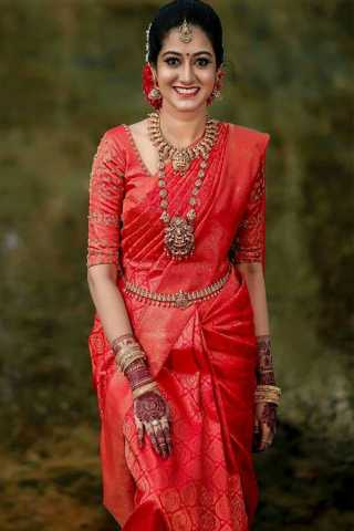 Exclusive Red Colored Partywear Silk Fabric Saree With Blouse Piece -CSS25