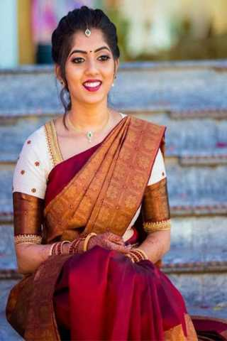 Imposing Maroon Colored Partywear Silk Fabric Saree With Blouse Piece -CSS29