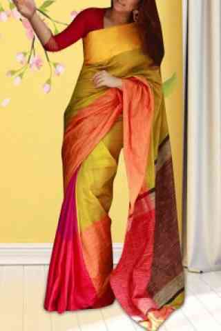 Fashionable Multi Color Soft Silk Saree - Cnd584
