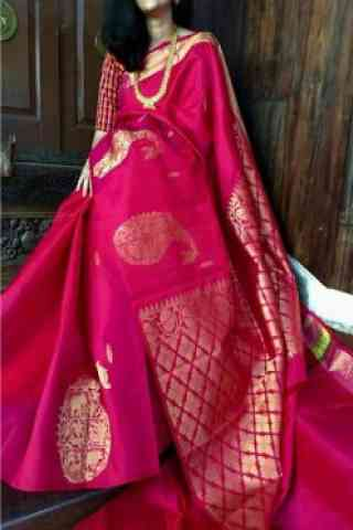 Sensational Pink  Color Soft Silk Designer Sarees - cnd707