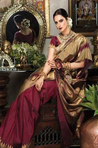 Maroon Colored New Designer Silk Saree With Blouse Piece - DSS109