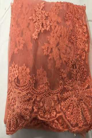 Heavy Diamond Peach Colored Georgette Saree With Blouse - DVDHD2A