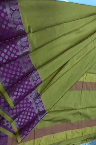Green Colored Banarasi Silk Saree With Blouse - DVDN27D