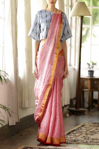 Elegant Pink Shadows Saree Silk Designer Saree For Women