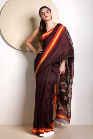 Maroon Colored Saree Silk Saree With Blouse For Women - KA00049