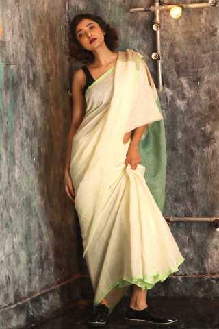 Stunning White Colored Saree Silk Saree With Blouse For Women - KA00069