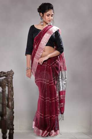 Charming Maroon Colored Saree Silk Saree With Tassel For Women - KA00120
