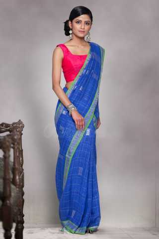 Lovely Blue Pink Saree Silk Saree With Tassel For Women - KA00122