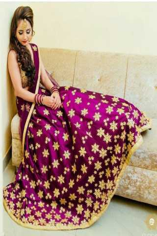 Classy Embroidered paper Silk Lehenga in Pink - LC174