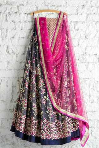 Mesmerising Blue Pink Lehenga With Ultramarine Dupatta And Blouse - LC178