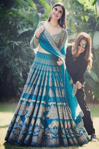 Glorious Blue Colored Wedding Wear Embroidered Lehenga Choli - LC23
