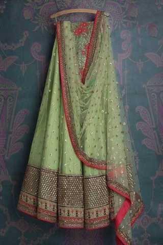 Demanding Green Colored Wedding Wear Embroidered Lehenga Choli - LC24