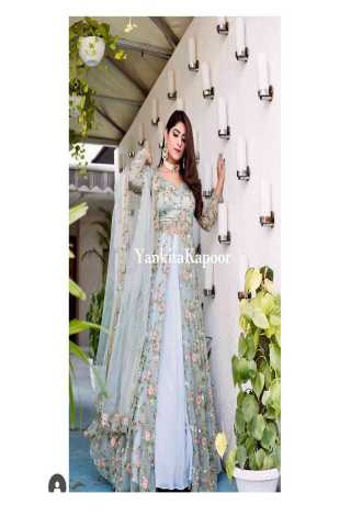Energetic Sky  Pista Colored Heavy Embroidery Work Designer Lehenga Choli With Dupatta  - LC261