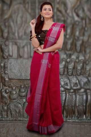 Women Designer Digital Printed Linen Saree - LIN229