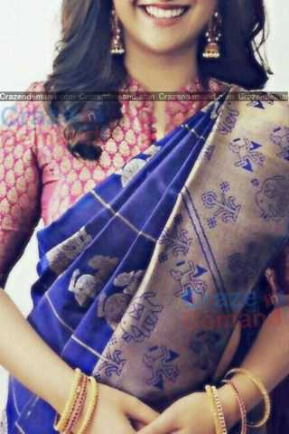 Excellent Blue Colored Designer Soft Silk Navratri Special Saree - CD274