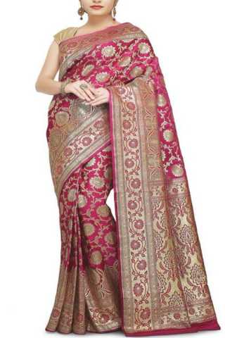 Extraordinary Pink Colored Traditional Soft Silk Festive Wear Saree - CD286