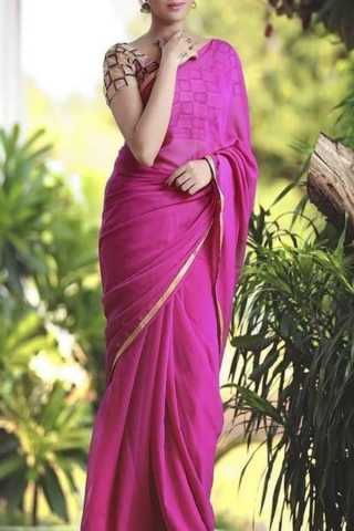 Irresistible Pink Colored Traditional Soft Silk Festive Wear Saree - CD294