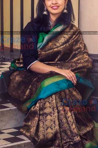 Fantastic Black Colored Karwa Chauth Special Soft Silk Festive Wear Saree - CD328