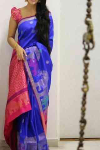Blooming Multi Color Soft Silk Designer Sarees - cnd1001
