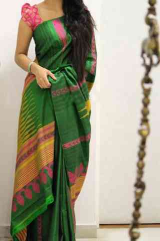 Dashing Green Color Soft Silk Designer Sarees - cnd1011