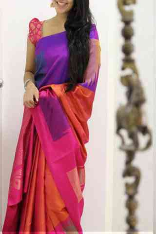 Modish Multi Color Soft Silk Designer Sarees - cnd1040