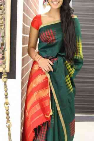 Admirable Green Color Soft Silk Designer Sarees - cnd1045