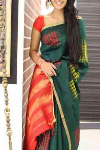 Admirable Green Color Soft Silk Designer Sarees - cnd1045