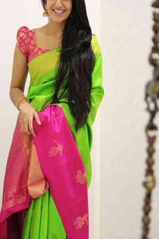 Adorning Green Color Soft Silk Designer Sarees - cnd1053