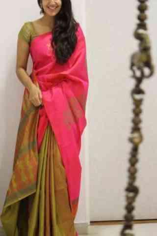 Modern Pink Color Soft Silk Designer Sarees-cnd1069