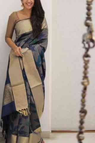 Dynammic Grey Color Soft Silk Designer Sarees-cnd1070