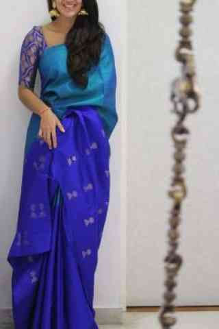 Royal Blue Color Soft Silk Saree - cnd1077