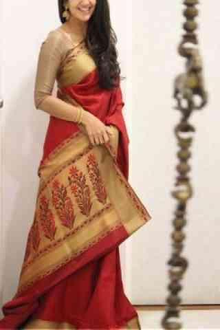 Fashionista Red Color Soft Silk Saree - cnd1079
