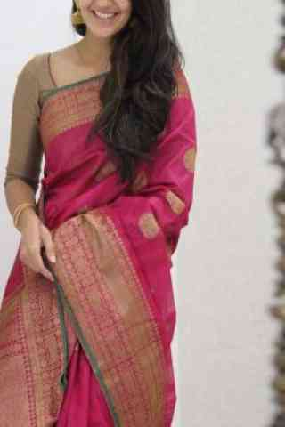 Dreamy Pink Color Soft Silk Saree - cnd1080