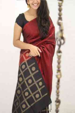 Amazing Maroon Color Soft Silk Saree - cnd1084