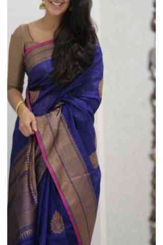 Dynammic Blue  Color Soft Silk Saree - cnd1095